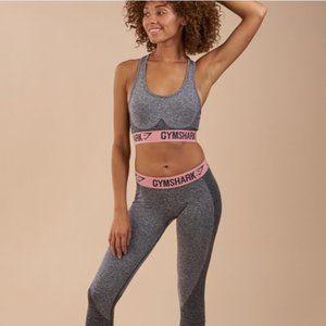 Gymshark Flex Sports Bra *Grey -Pink XS